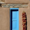 Blue Window of Taos Print by Heidi Hermes