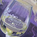 Bluestone Vineyard Wineglass Print by Donna Tuten