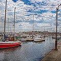 Boat - Baltimore MD - One fine day in Baltimore  Print by Mike Savad
