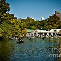 Boat House Central Park New York Print by Amy Cicconi