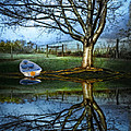 Boat on the Lake Print by Debra and Dave Vanderlaan