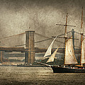 Boat - Sailing - Govenors Island NY - Clipper City Print by Mike Savad
