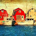 Boats and Boat Houses PEI Photograph  Print by Laura  Carter