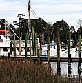 Boats at Little River Print by John Rizzuto
