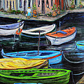 Boats in front of the Buildings II Poster by Xueling Zou