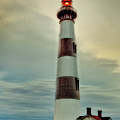 Bodie Lighthouse Outer Banks Abstract Painting Poster by Dan Carmichael