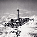 Boon Island Light Tower circa 1950 Print by Aged Pixel