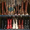 Boot Rack Print by Olivier Le Queinec