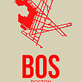 BOS Boston Airport Poster 1 Print by Irina  March