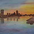 Boston Charles River at Sunset  Poster by Donna Walsh