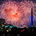 Boston Fireworks 1 Print by Mike Ste Marie