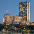 Boston Night Skyline IV Poster by Clarence Holmes