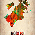 Boston Watercolor Map  Print by Irina  March