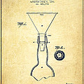 Bottle Neck patent from 1891 - Vintage Print by Aged Pixel