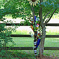 Bottle Tree Print by Suzanne Gaff