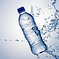 Bottle Water and Splash Poster by Johan Swanepoel