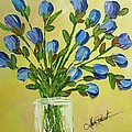 Bouquet Of Blue Print by Molly Roberts