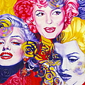 Bouquet Of Marilyn Print by Rebecca Glaze