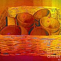 Bowls in Basket Moderne Poster by RC deWinter