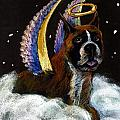 Boxer Angel Poster by DARLENE GRUBBS