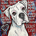 Boxer Love Print by Stephanie Gerace