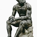 Boxer Seatted. 1st C. Hellenistic Art Print by Everett