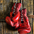 Boxing Gloves - Now retired Print by Paul Ward