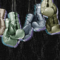 Boxing Gloves Print by Tony Rubino