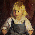 Boy In Blue Overalls Poster by Robert Henri