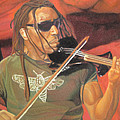 Boyd Tinsley at Red Rocks Poster by Joshua Morton