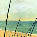Branches on the Beach - Oil Print by Michelle Calkins