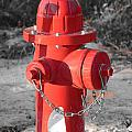 Brand New Red Hydrant on BW Print by Jeff at JSJ Photography