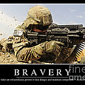 Bravery Inspirational Quote Poster by Stocktrek Images