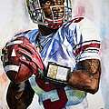 Braxton Miller - Ohio State Poster by Michael  Pattison