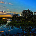 Break of Dawn over Low Country Marsh Print by Mike Savlen