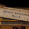 Brick Mason's Rule Poster by Wilma  Birdwell