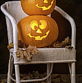 Brightly Lit Jack O Lanterns Print by Amanda And Christopher Elwell
