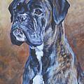 Brindle Boxer Print by Lee Ann Shepard