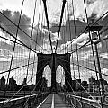 Brooklyn Bridge Print by Delphimages Photo Creations