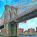 Brooklyn Bridge New York 20130426 Poster by Wingsdomain Art and Photography