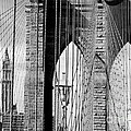 Brooklyn Bridge New York City USA Poster by Sabine Jacobs