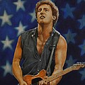 Bruce Springsteen 'born in the USA' Print by David Dunne
