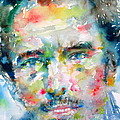 BRUCE SPRINGSTEEN WATERCOLOR PORTRAIT.1 Print by Fabrizio Cassetta