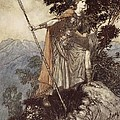 Brunnhilde from The Rhinegold and the Valkyrie Print by Arthur Rackham