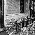 Brussels Cafe in Black and White Print by Carol Groenen