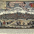 Brussels In 17th C. Engraving. � Print by Everett