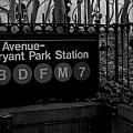 Bryant Park Station Poster by Mike Horvath