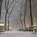 Bryant Park - Winter Snow Wonderland - Print by Vivienne Gucwa