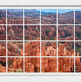 Bryce Canyon White Picture Window View Print by James BO  Insogna