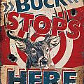 Buck Stops Here Sign Poster by JQ Licensing